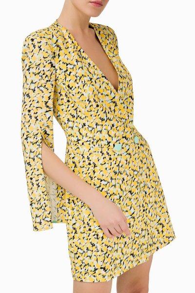 Vestido ELISABETTA FRANCHI Estampado Cruzado AB84493E2
