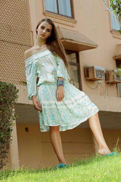 Vestido IBBAN Adela Blouse Aqua