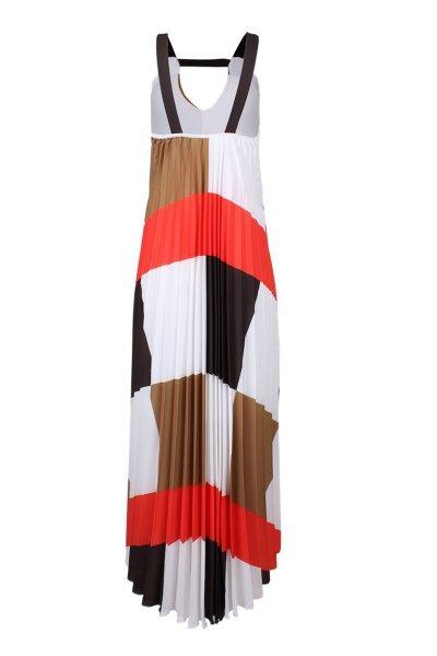Vestido SAHOCO Plisado Print Chess SH1901527V