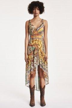Vestido DENNY ROSE Asimétrico Estampado Paisley 912DD10056