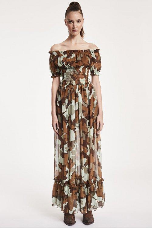 Vestido DENNY ROSE Largo Camouflage 912DD10075