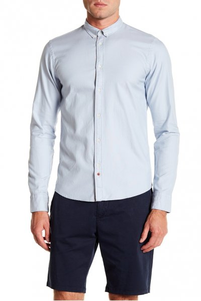 Camisa SCOTCH & SODA Oxford Celeste 139612