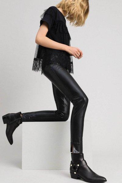 Legging TWINSET Piel Sintética 192TP2061
