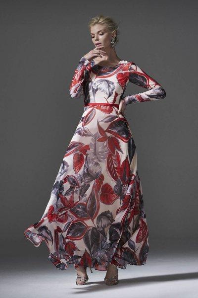 Vestido CARLA RUIZ Largo Estampado 96122