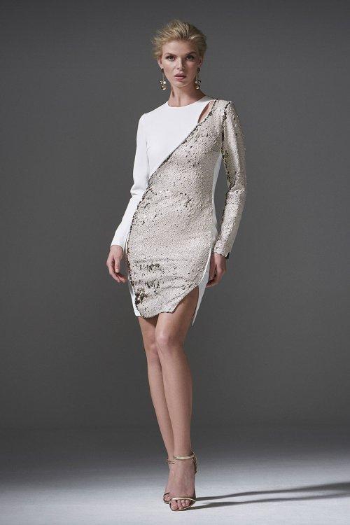 Vestido CARLA RUIZ Cortes Paillettes 96130
