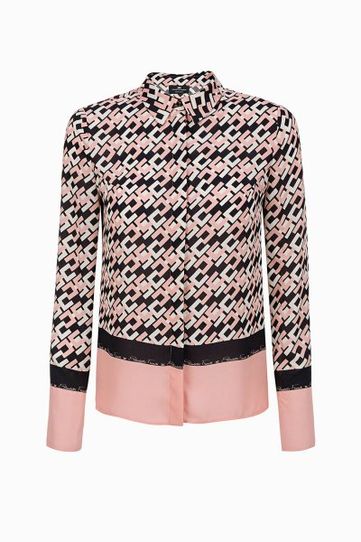 Camisa ELISABETTA FRANCHI Estampado Logotipo Rosa CA22996E2