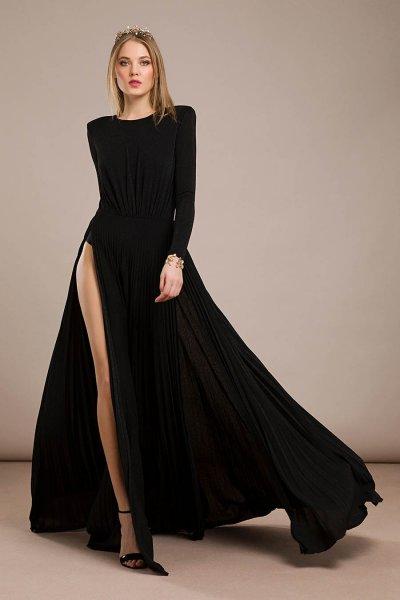Vestido ELISABETTA FRANCHI Largo Aberturas Espalda Cadenas AB95796E2