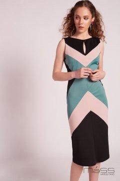 Vestido MATILDE CANO Neopreno Tricolor L128