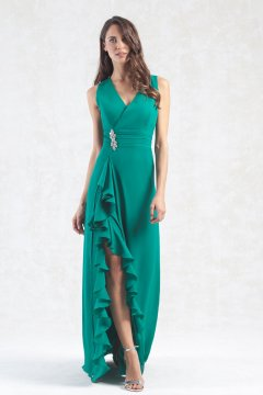 Vestido MONCHO HEREDIA Largo Verde 7215046