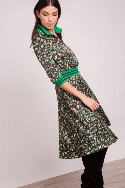 Vestido ALBA CONDE Estampado Efecto Dos Piezas 5419-116-81