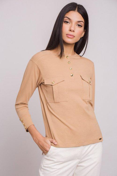 Camiseta ALBA CONDE Panadera Botones y Bolsillos 5814-200-20