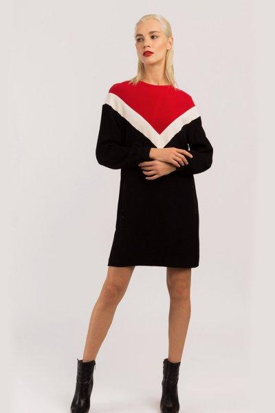 Vestido ALBA CONDE Punto Tricolor 6411-644-55