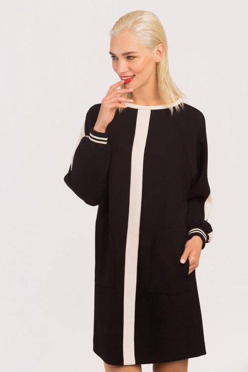 Vestido ALBA CONDE Recto Bicolor 6423-604-20