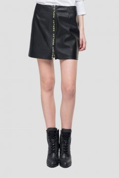 Minifalda REPLAY De Piel Ecológica W9328 82256