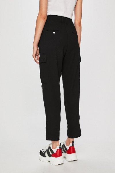 Pantalones PINKO Cargo Crepe Fluido Negro 1B144F4575