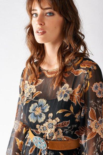 Vestido RINASCIMENTO Midi Estampado Floral Años 70 CFC0016774002