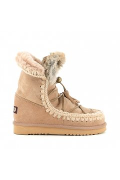 Bota MOU Eskimo Dream Lace Up & Fur Camel