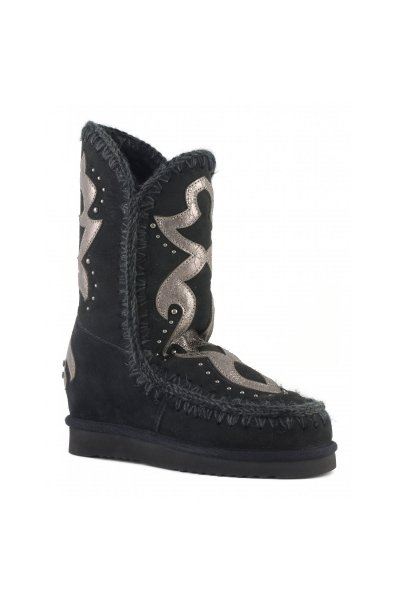 Bota MOU Inner Wedge Tall Texan Patch Negra MU.FW121008A BKBK