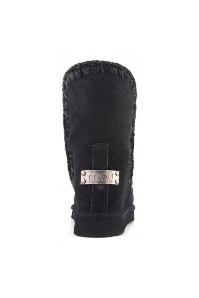 Bota MOU Inner Wedge Short Sequins New Black