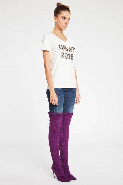 Camiseta DENNY ROSE Logo Lentejuelas 921ND64016