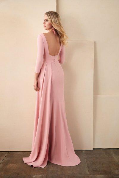 Vestido VALERIO LUNA Rosa Pedrería VL5038
