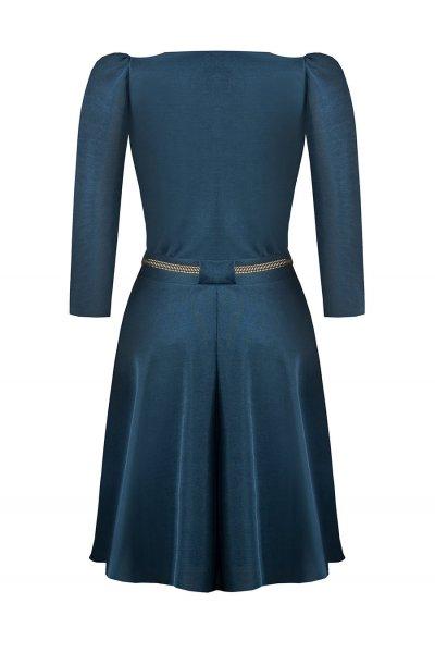 Vestido RINASCIMENTO Cruzado Azul Petróleo CFC0093974003