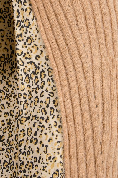 Cardigan TWINSET Combinado Mohair y Sarga Estampada 192TP3061