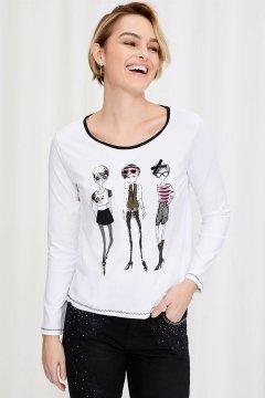 Camiseta LOLITAS Blanca Con Dibujo 20W233