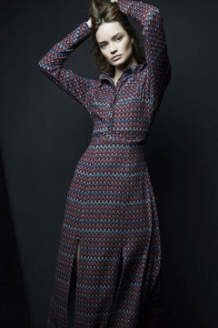 Maxi Vestido IMILOA Zigzag Velvet Juliette IPE-M01BIS