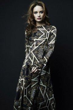 Vestido IMILOA Black Animal Violette IPE-M11