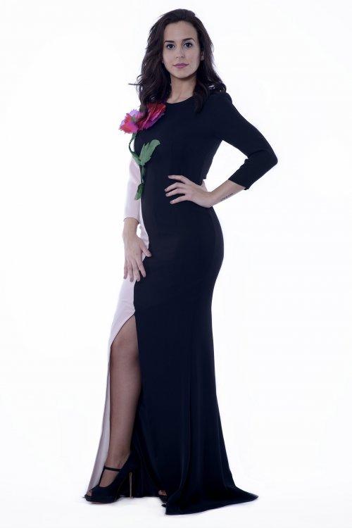Vestido CARLA RUIZ Bicolor Flor 95727