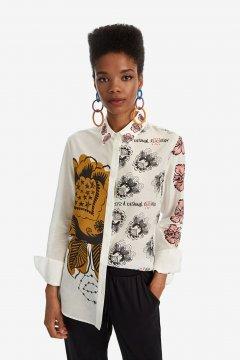 Camisa DESIGUAL De Seda Maxiflowers 19WWCW611004