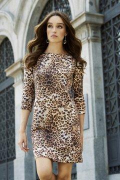 Vestido ARGGIDO Cremalleras Leopardo 43195