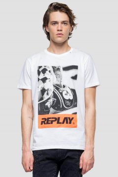 Camiseta REPLAY Con Estampado Biker M3854 2660