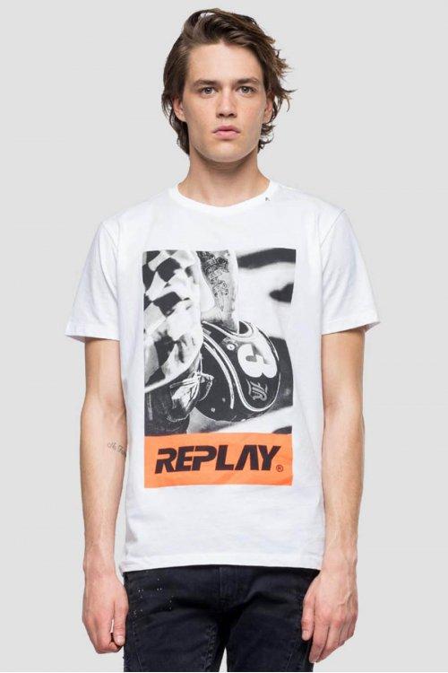 Camiseta REPLAY Con Estampado Biker M3854 2660