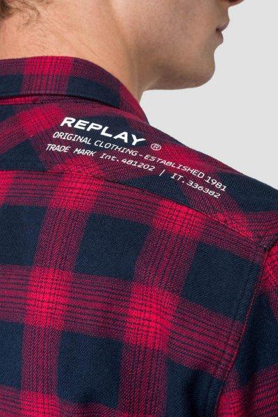 Camisa REPLAY Con Estampado A Cuadros M4953P 52128
