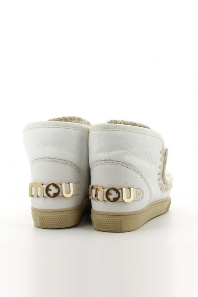 Sneaker MOU Eskimo Round Stones & Metallic Logo Waxi White MU.FW111004C WXWHI