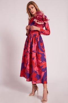 Vestido MATILDE CANO Estampado + Flor 7104