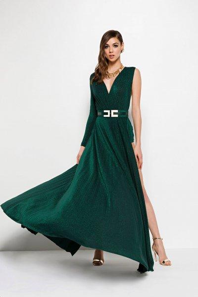 Vestido ELISABETTA FRANCHI Largo Con Cinturón AB08298E2