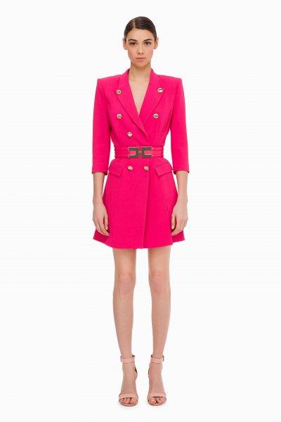 Vestido ELISABETTA FRANCHI Abrigo Con Cinturón AB11897E2