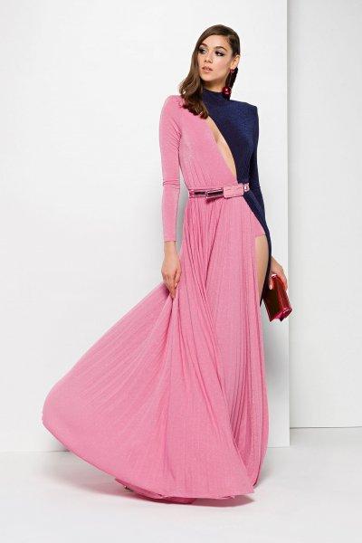 Vestido ELISABETTA FRANCHI Largo Bicolor AB12298E2