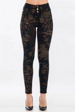Jeans SOS Camuflaje Studs & Strass P1500 4367