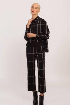 Pantalón ALBA CONDE Negro Cuadros 6515-441-20
