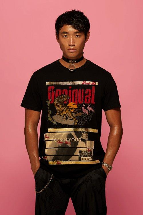 Camiseta DESIGUAL Print Tigre 19WMTK492000