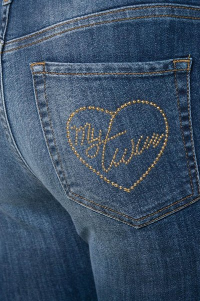 Jeans TWINSET Skinny Fit Aplicación Minitachas 192MT2361