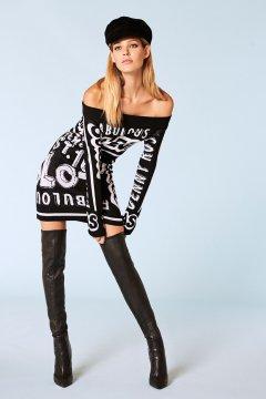 Vestido DENNY ROSE Punto Estampado Letras 921DD50001