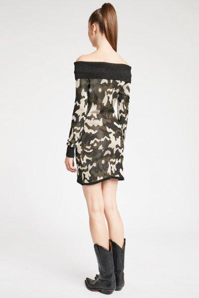 Vestido DENNY ROSE Punto Camuflaje 921DD50043