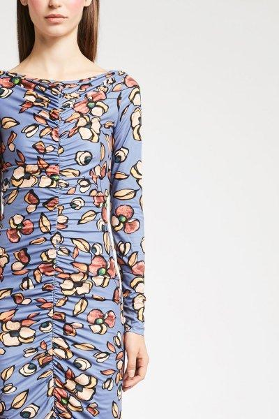 Vestido DENNY ROSE Drapeado Floral 921DD10018