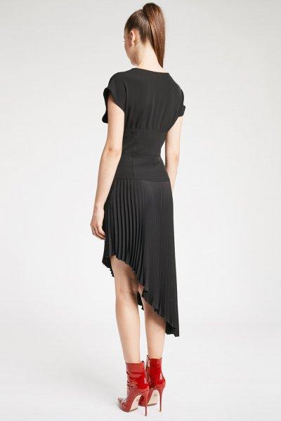 Vestido DENNY ROSE Asimétrico Falda Plisada 921DD10004