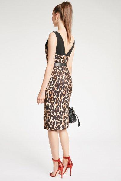 Vestido DENNY ROSE Lápiz Animal Print 921DD10050